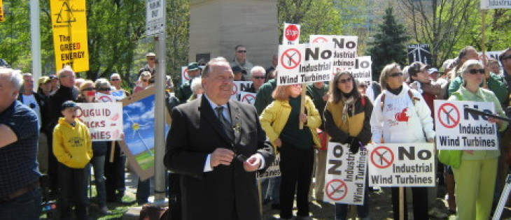 Wind Turbine Rally in Queen's Park