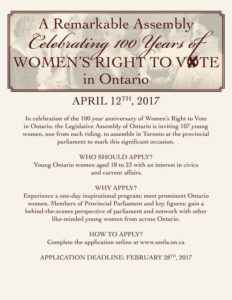 A Remarkable Assembly 100 Years of Women's Right to Vote
