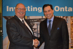 MPP Bailey and Hon. Brad Duguid, Minister of Economic Development and Growth